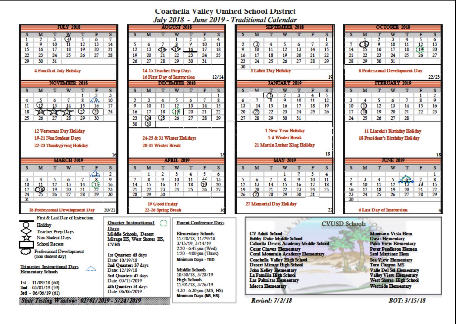 Duke Academic Calendar 2020 2018 19 School Calendar   Bobby Duke Middle School